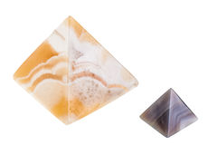 Marble pyramids Stock Images