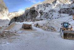 Marble quarries of Carrara Stock Image