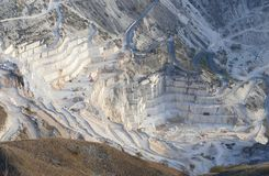 The marble quarries at Carrara stock photo