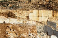 Marble quarries Royalty Free Stock Photos