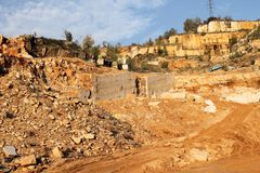 Marble quarries Royalty Free Stock Photography