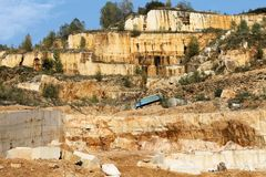 Marble quarries royalty free stock photo