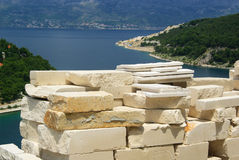 Marble quarry. In Croatia, island Brac Stock Photography