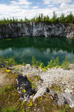 Marble quarry. In Sortavala, Karelia, Russia Stock Images