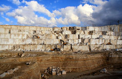 Marble quarry. An open quarry of marble in Turkey Royalty Free Stock Photo