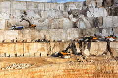 Marble quarry. An open quarry of marble in Turkey Royalty Free Stock Photos