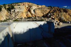 Marble quarry. Abandoned marble quarry - white marble Stock Photography