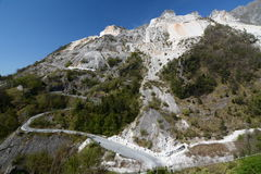 Marble quarry. Apuan alps. Massa and Carrara province. Tuscany. Italy. Fantiscritti is a marble quarry site, situated in the Apuan Alps, and it is known for its Royalty Free Stock Images