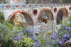 Marble quarry bridge Stock Photography