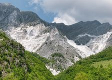 Marble quarry, Carrara Italy Stock Images