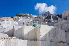 Marble quarry of Carrara in Italy Royalty Free Stock Photography