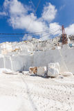 Marble quarry of Carrara in Italy Stock Images