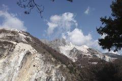 marble quarry in carrara Stock Photos