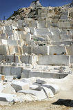 Marble quarry in Carrara White Italy Stock Photo