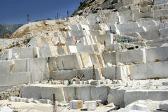Marble quarry in Carrara White Italy Royalty Free Stock Photography