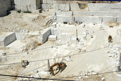 Marble quarry in Carrara White Italy Royalty Free Stock Images