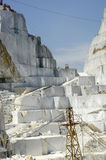 Marble quarry in Carrara White Italy Stock Image