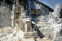 Marble quarry in Carrara White Italy Stock Photos