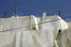 Marble quarry in Carrara White Italy Royalty Free Stock Photos