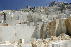 Marble quarry in Carrara White Italy Stock Photography