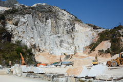 Marble quarry. Colonnata. Apuan alps. Massa and Carrara province. Tuscany. Italy Royalty Free Stock Image
