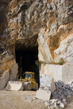 Marble quarry entrance in Carrara Stock Photos
