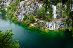 Marble quarry flooded in past in Karelia Royalty Free Stock Image