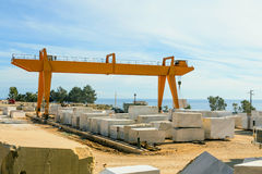 Marble Quarry Industrial Stock Photo