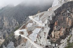 Marble quarry, Italy Royalty Free Stock Photo
