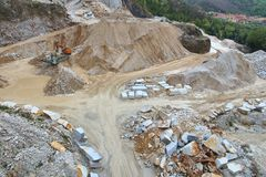 Marble quarry in Italy Royalty Free Stock Photo