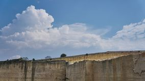 Marble Quarry Italy. Marble Quarry near Matera Italy stock images