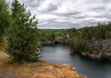 Marble quarry. Karelia. Russia Stock Photo
