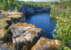 Marble quarry. Karelia. Russia Stock Photography