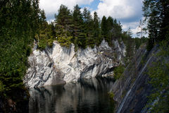 Marble quarry in Karelia, Russia Stock Photos