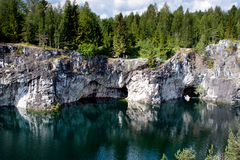 Marble quarry in Karelia, Russia Stock Photography