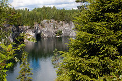 Marble quarry in Karelia, Russia Royalty Free Stock Photo