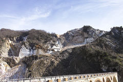 marble quarry  in marina di carrara Royalty Free Stock Image