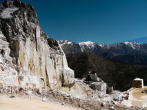 Marble quarry - mining, Italy Stock Image