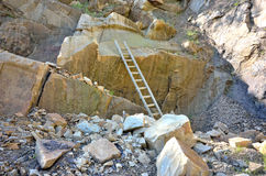 Marble quarry details Royalty Free Stock Image