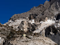 Marble quarry - outdoors industrial landscape, Italy Royalty Free Stock Photography