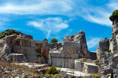 Marble Quarry - Palmaria island Italy Royalty Free Stock Photos