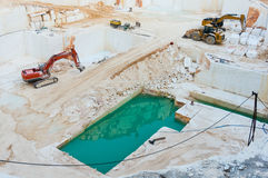 Marble quarry pit Stock Photos