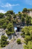 Marble Quarry - Palmaria island Italy Stock Images