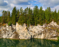 Marble quarry in ruskeala Stock Photo