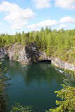 Marble quarry in Ruskeala Stock Image