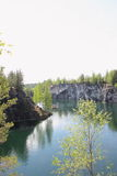 Marble quarry in Ruskeala Royalty Free Stock Image