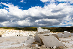 Marble quarry, stone texture, Stone Quarrying Royalty Free Stock Photo