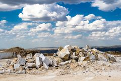 Marble quarry, stone texture, Stone Quarrying Royalty Free Stock Photography