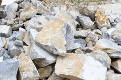 Marble quarry, stone texture, Stone Quarrying Stock Image