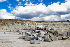 Marble quarry, stone texture, Stone Quarrying Royalty Free Stock Photos